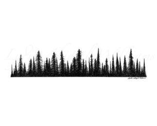 treeline silhouette
